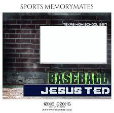 ted baseball sports memory mate photoshop template