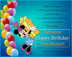 advance birthday wishes messages and greetings 365greetings com