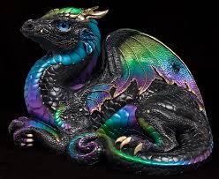 warrior dragon u2013 black violet peacock u2013 version 2 windstone