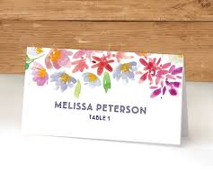 printable place cards template floral wedding escort cards