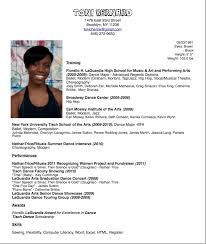 Audition Resume Template Dance Resume Template Berathen Com