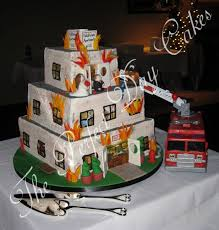 firefighter wedding cake groom s cakes the day cakes