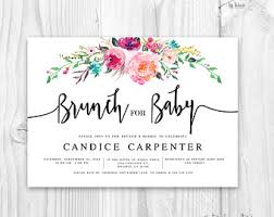 baby shower brunch invitations floral baby shower invitation brunch for baby invitation