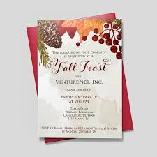 Invitation Card For Dinner Thanksgiving Feast Invitation Dinner Party By Cardsdirect