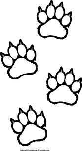 footprint clipart tiger pencil and in color footprint clipart tiger