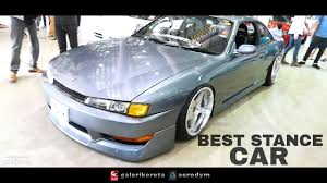 nissan silvia stance nissan silvia s14 stance best car borneo kustom show 2017 youtube