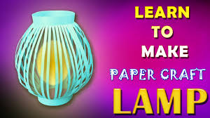 diy paper lamp shade lantern origami paper crafts for kids youtube