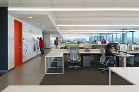 modern office furniture for small office design bookmark evernote open plan with concrete for hallway and carpet under desks