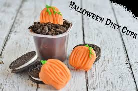 halloween pumpkin dirt cup snacks for kids