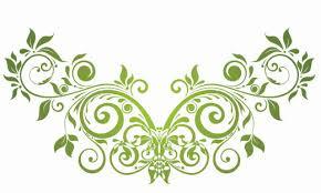 green vector floral ornament jpg clip library
