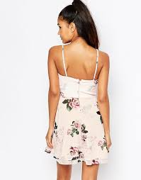 Lipsy Ariana Grande For Lipsy Rose Print Strappy Tea Dress