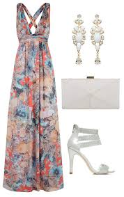 beachy dresses for a wedding guest bohemian style s maxi dress with halter neck large floral