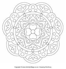 rangoli designs patterns for children to colour could be made