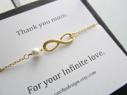 bracelet for mother thank you mom infinite love card gold infinity
