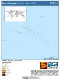 French Polynesia Map Maps Population Density Grid V3 Sedac