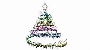 rotating christmas tree animation loop rainbow motion background