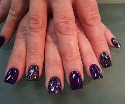 black and purple nail designs graham