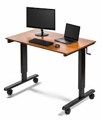 tresanti sit to stand power height adjustable tech desk anthrodesk electric standing desk for canadians eh youtube