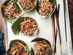 cold soba salad with dried shiitake dressing recipe susan