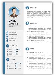 resume template word 3 free resume cv templates for microsoft word