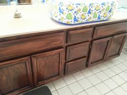 Dark Mahogany Kitchen Cabinets by General Finishes Brown Mahogany Gel Stain On Bathroom Cabinets By