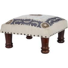 cream embroidered square foot stool tk maxx decor pinterest