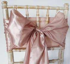 chair bows satin sash gold