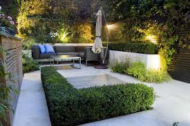 Garden Patio Lighting Small Modern Backyard Garden Patio Deign Ideas With Lighting And