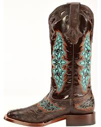 womens quill boots lucchese s chocolate amberlyn quill ostrich boots
