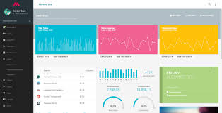 material lite mdl with angularjs admin dashboard by themeguys
