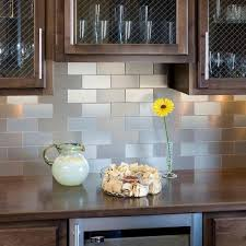 Contemporary Kitchen Stainless Steel Self Adhesive Backsplash - Adhesive kitchen backsplash
