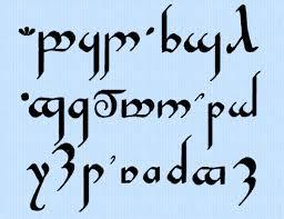 tengwar elvish alphabet font machine embroidery design