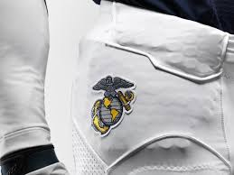 Flag Football Pants The United States Marine Logo On Navy U0027s Pants For The Army Navy