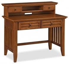 Black Writing Desk With Hutch Arts And Crafts Black Student Desk Hutch Craftsman Pertaining