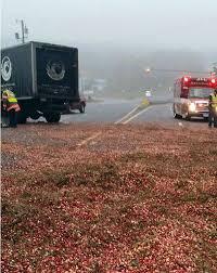 truck spills cranberries in accident on cape cod bridge wstm