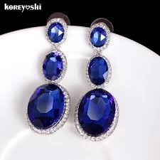 royal blue earrings 2018 new indian jewelry royal blue earrings for women