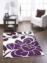 Wool Indian Rugs Sachas Cream Plum Floral Modern Wool Indian Rugs 80x150cm Ebay