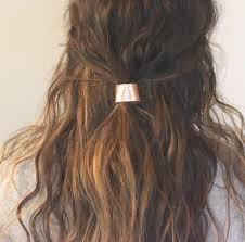 hair cuff leather hair cuff ponytail holder in gold size 3inches