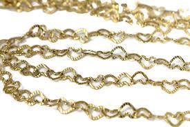 vintage necklace chains images 14k heart links necklace set 2 chains vintage italy premier jpg