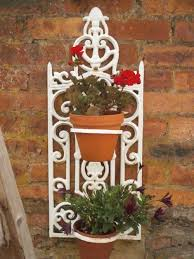 wall hanging planters antiques atlas vintage french wrought iron wall hanging planters