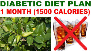 type 2 diabetic diet plan for 1 month 1500 calories free