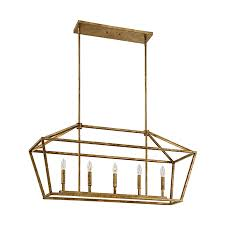shop millennium lighting 40 in w 5 light vintage gold kitchen
