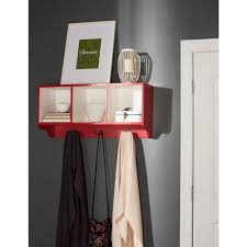 safavieh alice red and white wall mounted coat rack amh6566n the