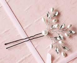 bridal hair pins 5pcs handmade bridal hairpins with crystals pearl wedding hair