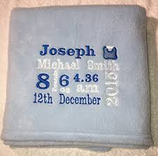 keepsake baby gift personalised baby birth gift blanket keepsake birth details boy