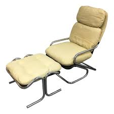 Canvas Sling Back Chairs by Mid Century Jerry Johnson Sling Lounge Chair Ottoman Design