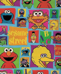 flat wrapping paper sesame big bird bert ernie gift wrap flat wrapping