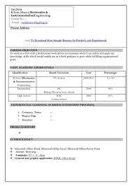 normal resume format for freshers resume template example