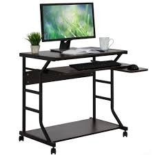 best choice products home office 2 tier computer desk workstation w l