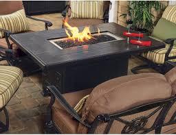 Gensun Patio Furniture Reviews Gensun Casual Grand Terrace 38 X 56 Rectangular Cast Alum Gas Firepit